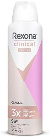 Antitranspirante Aerosol Classic Clinical, Rexona, 150 ml