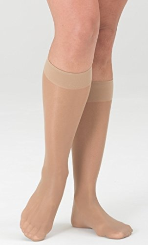[Medi Sheer&Soft Knee High 8-15mmHg Closed Toe, L, WHEAT] (Medi Comfort Knee High)