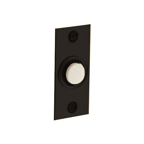 Rectangular Doorbell - Baldwin 4853.112 Rectangular Doorbell Button, Venetian Bronze