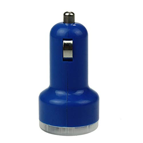 Gimax Car Accessories Car Universal 5V 2.1A Bullet Adaptor Dual USB 2-Port Car Charger For iPhone iPod Touch Car-Styling& wholesale - (Color Name: Blue)