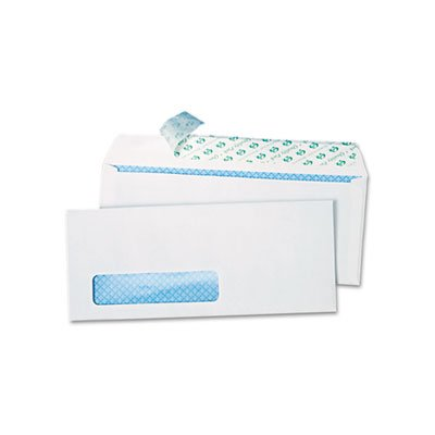Redi Strip Security Tinted Window Envelope, #10, 4 1/8 x 9 1/2, White, (Security Tinted Redi Strip)