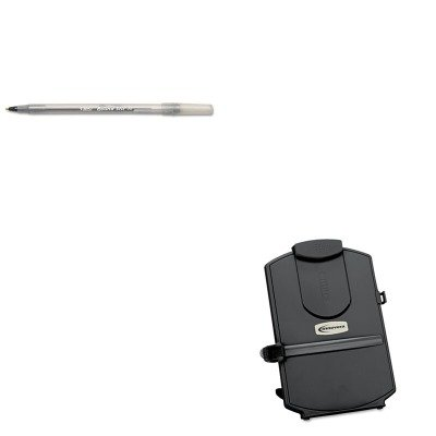 KITBICGSM11BKIVR59001 - Value Kit - Innovera Desktop Copyholder (IVR59001) and BIC Round Stic Ballpoint Stick Pen (BICGSM11BK)