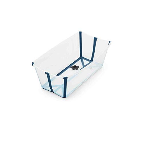 Vaschetta Pieghevole Bagno Stokke Flexi Bath Trasparente Blu