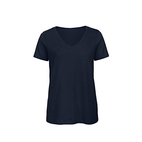 - B&C Womens/Ladies Favourite Organic Cotton V-Neck T-Shirt (L) (Navy Blue)