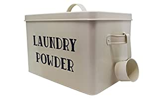 Laundry Powder / Detergent XL Vintage Storage Container, 5.2 Quarts, Off-White / Tide, Extra Large, Home Decor