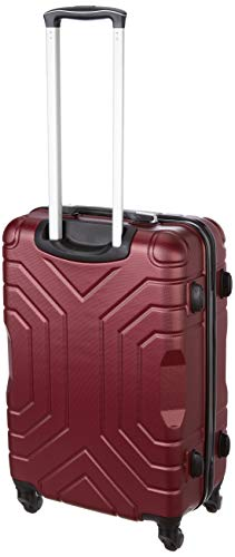 Pronto Indigo Combo Set of 2 Maroon Small, Medium Check-in 4 Wheel Hard Suitcase