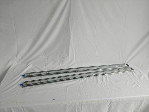 1 Pair 48'' Full Extension 500 LB Capacity Drawer Slides Steel Roller Bearings Lock in/Out Trigger by Generic (Image #2)