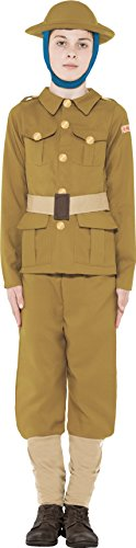 Small Green Horrible Histories WWI Boy Costume. - Toy Soldier Green Costume