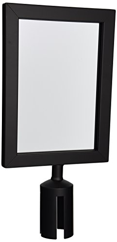 Winco CGSF-12K Stanchion Top Sign Frame, Black