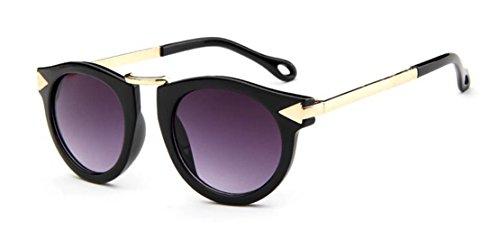GAMT Children's Sunglasses UV Sunglasses Metal Arrow Black frame gray - Glasses With Girl Scene