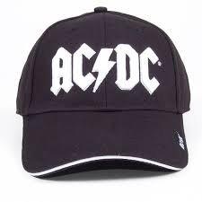 AC/DC pantalla White Logo Gorro Gorra Gorro Gorra de béisbol
