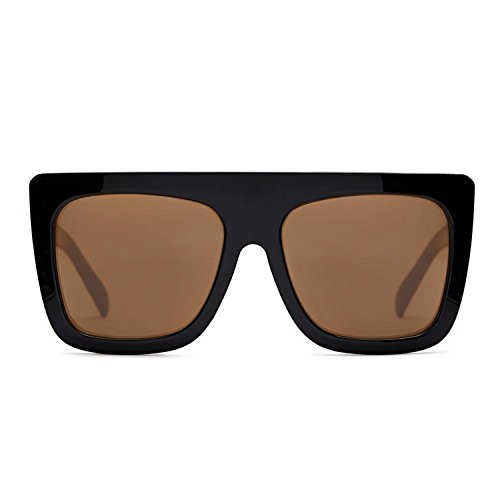 Quay Australia CAFÉ RACER Women's Sunglasses Oversized Boxy Bold - - Sunglasses Behind To Hide