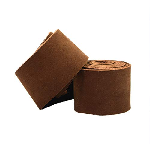 Hide & Drink, Leather Strong Strap (1.5 in) Wide, Cord Braiding String, Medium Weight (1.8mm Thick) (75 in.) Long for Crafts/Tooling/Workshop :: Swayze - Supplies Leather Braiding