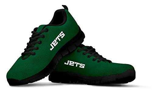 NY Jets Themed Casual Athletic Running Shoe Mens Womens Sneakers Sizes Football Apparel and Gifts for Men Women New York Jet Merchandise (Mens, Mens US11 (EU45))