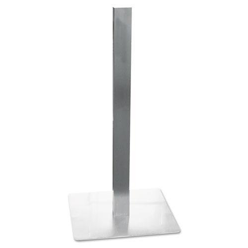 Mayline CA411S Hospitality Table Square Pedestal Base, 19-3/4 x 19-3/4 x 41, Stainless (Mayline Square)