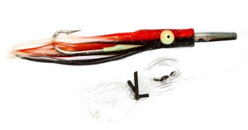 Boone Mahi Jet Rigged Bait, Red/Black, 6 1/2-Inch (Mahi Mahi Bait)