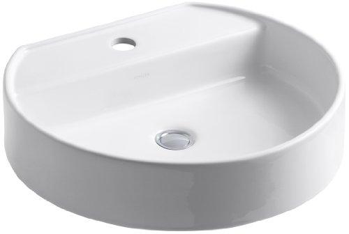 KOHLER K-2331-1-0 Chord Wading Pool Bathroom Sink, White