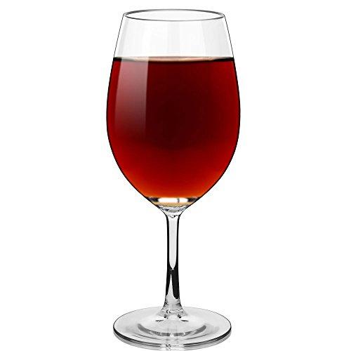 Unbreakable Wine Glass Stemmed Goblet - 100% Tritan Plastic Shatterproof Wine Glass, 20oz, BPA-free, Reusable, Dishwasher-safe Wine Goblet by Joyjorya