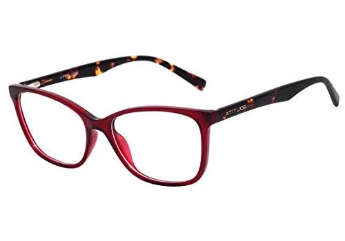 Atitude At 4102 - Óculos De Grau T01 Vermelho Translúcido E
