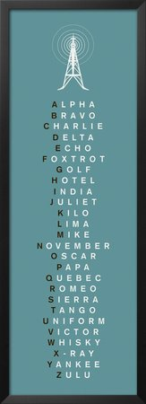 Phonetic Alphabet II Framed Art Poster Print by The Vintage Collection