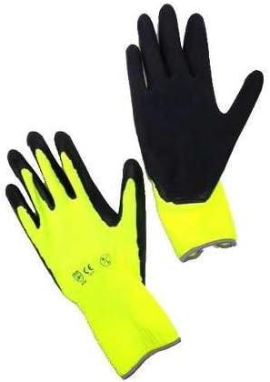 Montagehandschuhe ideal als Strumpfhandschuhe bis 9 cm Handbreite Gr/ö/ße III COMPRESSANA Super-Grip Atmungsaktive Feinstrick-Handschuhe aus Polyester//Baumwolle mit in Latex getauchter Handfl/äche 1 Paar Arbeitshandschuhe