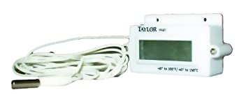 Taylor Precision Products Digital Panel Mount Thermometer (-40- to 300-Degrees Fahrenheit, -40- to 150-Degrees Celsius)