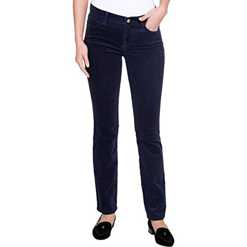 Blues Leg Corduroy Straight (Tommy Hilfiger Womens Greenwich Straight Leg Mid-Rise Corduroy Pants Navy 6)