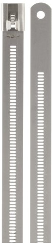 BAND-IT AE7059 316 Stainless Steel Multi Lok Cable Tie, 0.47'' Width, 24'' Length, 7.1'' Maximum Diameter, Bag of 100 by Band-It