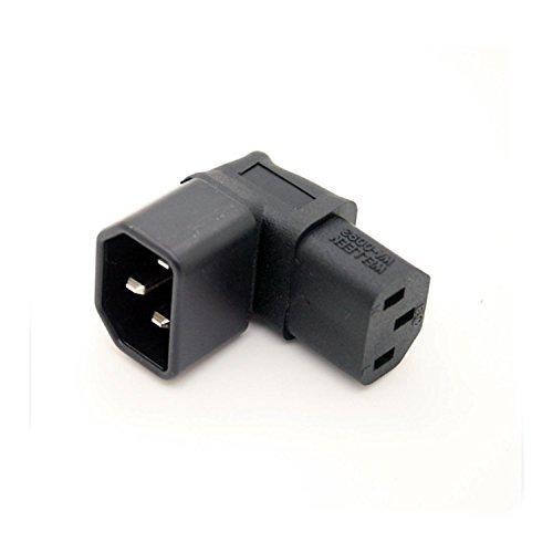 Iec Power Strips - IEC C14 TO C13 POWER ADAPTER 10A PDU PLUG/SOCKET 90 DEGREE Wall-mounted LCD TV (WA-0093)