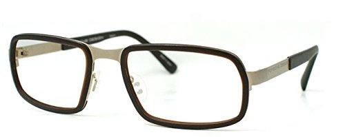 Men Eyeglasses Porsche Design Metal Frame Acetate P8220 C Gold Brown 56 - Eyeglasses Porsche Frames