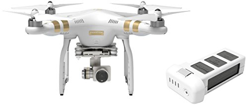 (DJI Phantom 3 Professional Quadcopter Drone Bundle with Extra Battery)
