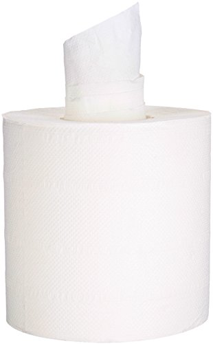 AmazonBasics Professional Centerpull Perforated Towels, White, 520 Towels per Roll, 6 Rolls