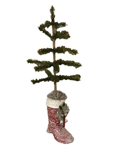 - Bethany Lowe Feather Tree with Red Boot LG2663