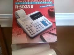 PRINTER DISPLAY TI-5033