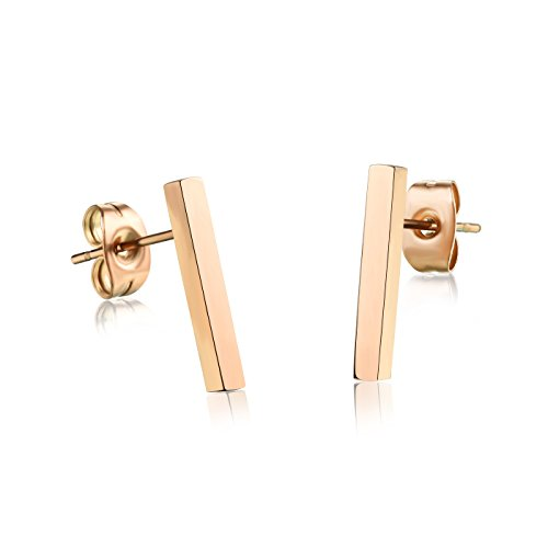 stainless-steel-rose-gold-plated-square-bar-earrings-staple-stud-earring-15mmx2mm