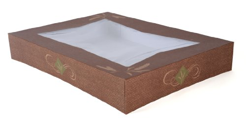 "Southern Champion Tray 24156 Paperboard Hearthstone Bakery Half Sheet Cake Box Top with Window, Clay Coated, Fits Corrugated Bottom #1177, 19"" Length x 14"" Width x 3"" Height, (Pack of 50)"