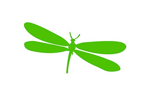 (Dragonfly Sticker Vinyl Decal Car Truck Window Wall Glass Laptop Bumper (6 Inches, Lime Green))