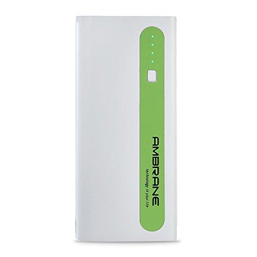 AMBRANE 13000 mAh Power Bank P 1310 White  amp; Green