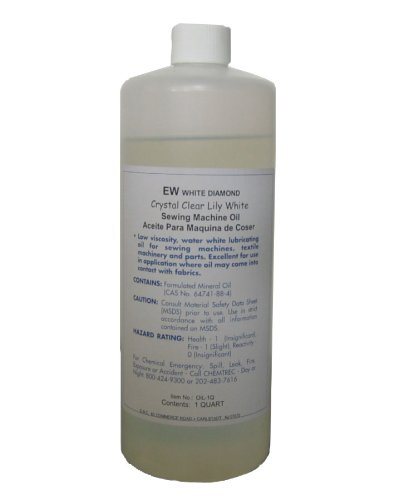 1 Quart Lily Whey-faced Industrial Sewing Machine Oil Made in USA, premium