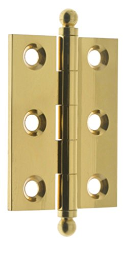 idh by St. Simons 82015-003 Professional Grade Quality Genuine Solid Brass Cabinet Hinges, Polished Brass, 2 x 1-1/2-Inch, (Brass Accessory Cabinet Finials)