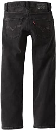 Levi's Big Boys' 514 Straight Fit Jeans, BLACK STEEL, 8 Regular