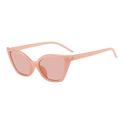 WOWSUN New Retro Cat Eye Eyeglasses Womens Modern Stylish Small Sunglasses Style - Retro Modern Vintage Sunglasses