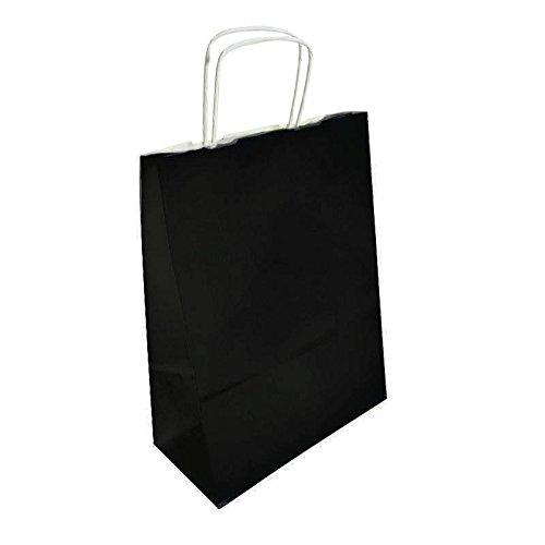 50 bolsas de papel Kraft negro sobre fondo blanco 24 x 11 x ...