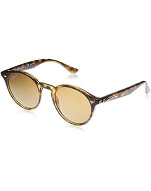 RB2180 49mm Round Sunglasses
