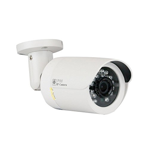 GW Security GW-5037 5MP 1920p Weatherproof High Resolution 1080P PoE IP Security Camera 3.6mm (White)