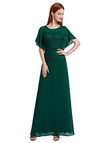 7b3138124b9 Ever-Pretty Womens Floor Length Elegant Round Neckline Mother of The Bride  Dress 4 US Dark Green