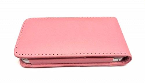 Super Best di Apple iPhone 4 4S Light Pink flip scorrevole con due fessure per carta PU Leather Case Cover per Apple iPhone 4 4S