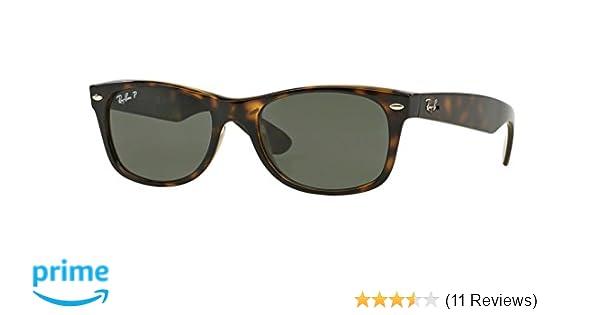 Ray-Ban Womens Polarized UV Protection Tortoise  Green Polarized Wayfarer  Sunglasses Brown 79093af726