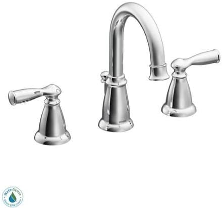 Moen CA84924 Double Handle Widespread Bathroom Faucet from the Banbury Collection, Chrome