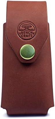 کیف دستی چند ابزار چرم آمریکایی Bench Craft Riveted برای Leatherman WAVE ، WAVE + ، CHARGE و CHARGE TTI - پوستین Leatherman